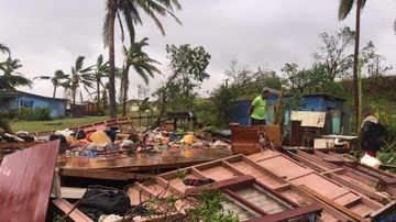 Hundreds of buildings were destroyed by the cyclone. (AAP)