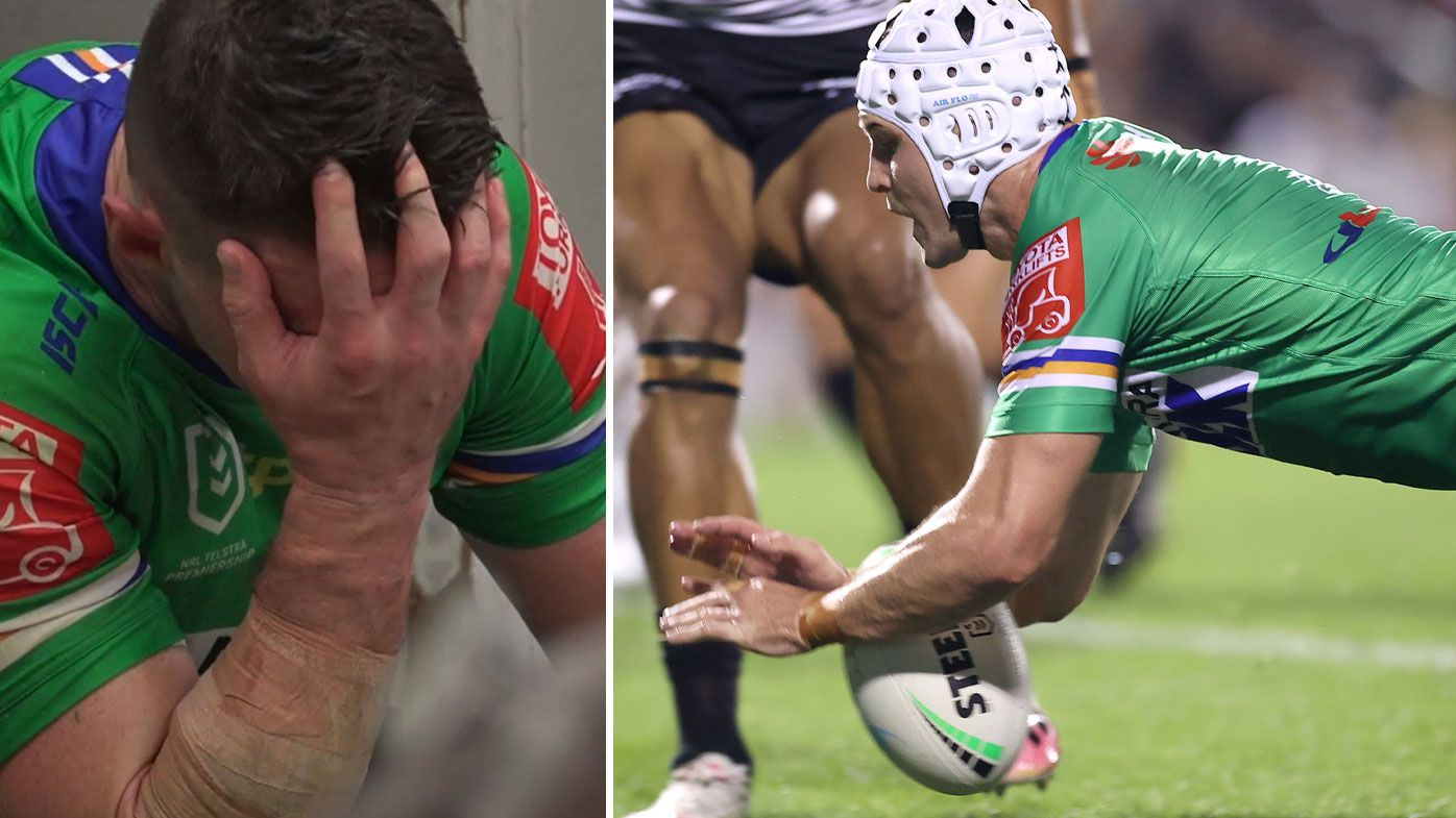 'That was a big drop': Jarrod Croker bungles 'huge opportunity' to topple NRL heavyweights