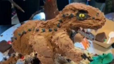 Hamish Blake's Lego cake masterpiece