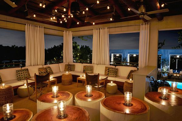 If you want a spectacular view: SkyBar at the Mondrian