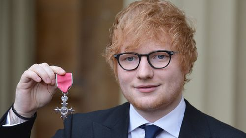 Ed Sheeran has been awarded an MBE. (Press Association)