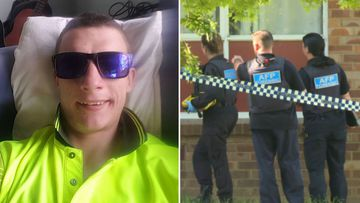 Brodie Antoniak (right) was arrested last night after a shooting in the Canberra suburb Narrabundah.