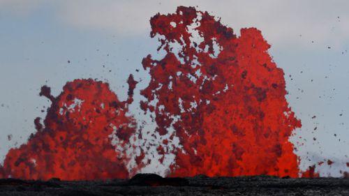 Fissures spew lava in the Leilani Estates subdivision near Pahoa, Hawaii. (AP)