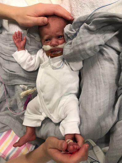 Sydney father runs half marathon for premature baby son
