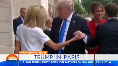 Karl Stefanovic reacts to Trump's remarks to Brigitte Macron