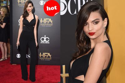 Blurred Lines model Emily Ratajkowski knew how to keep it casual with just a hinty of sexy.