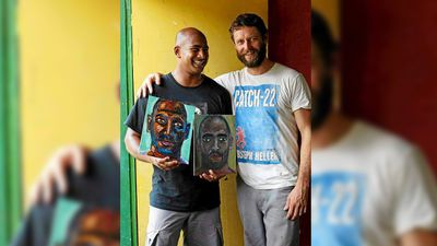 Sukumaran's painting style has been heavily influence by his mentor, Sydney artist Ben Quilty. (Facebook)