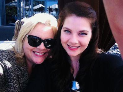 Rebecca with her mum