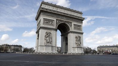 Paris' Arc di Triomphe in all its magnificent, lonely glory