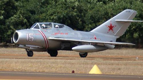 A Mig-15 similar to the one Yuri Gagarin was flying when he died.
