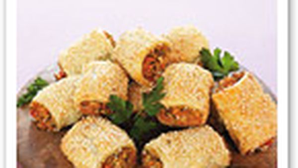 Savoury vegetable rolls