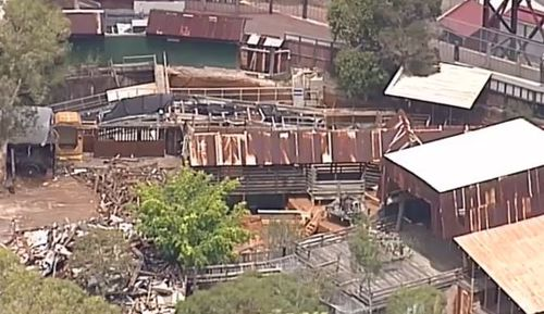 The Thunder River Rapids ride was closed following the tragedy. (AAP)