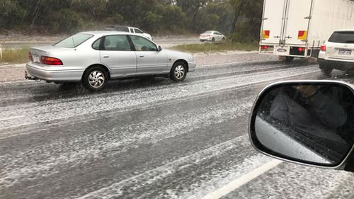 Perth hit by hailstorm as wet weather continues through spring