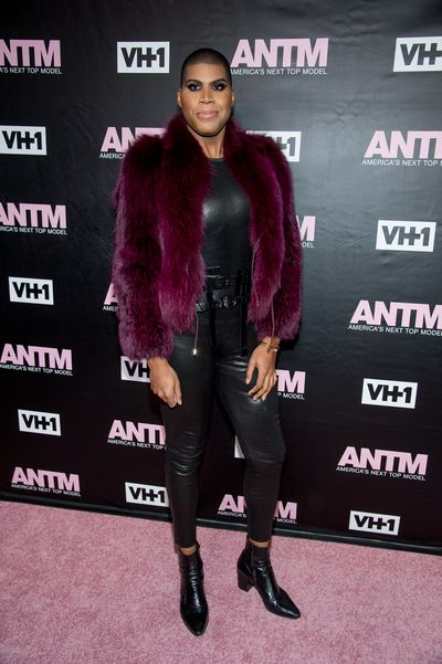 EJ Johnson attends<em> America's Next Top Model</em>premiere on December 8, 2016 in NY