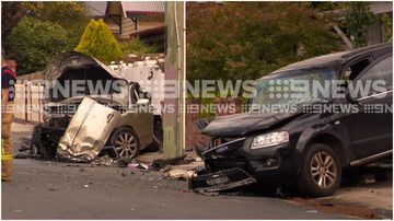 """Police say man """"extremely lucky"""" to be alive after causing a multi-car smash in Geelong."""