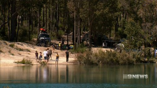 The family had been camping at Dilly's Dam when they went for what was meant to be a short walk.
