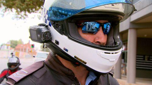Police use helmet cameras to target offenders.
