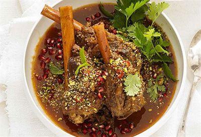 Teena Ebejer's lamb shanks with pomegranate and dukkah
