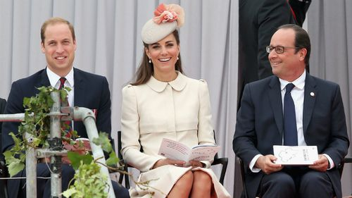 The Duke and Duchess of Cambridge with French President Francois Hollande. (Getty)