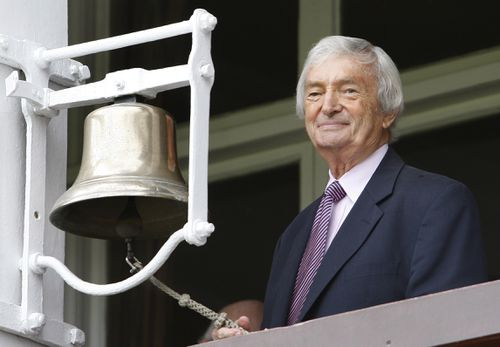 Richie Benaud and the Nine cricket commentary team became household names during the game's tenure with the company. (AAP)