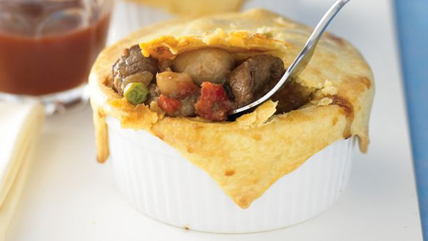 Beef and mushroom pot pies