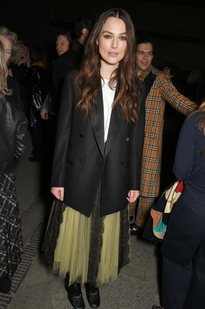 Kiera Knightley at Burberry A/W '18, London Fashion Week
