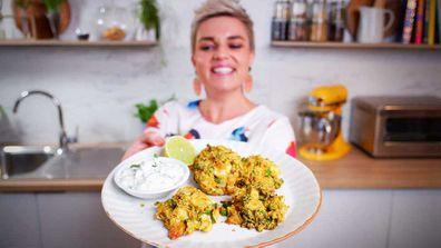 Jane de Graaff's baked cheesy vegetable fritters