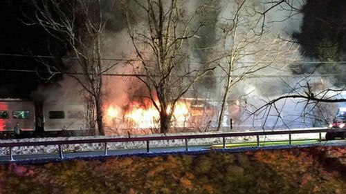 Six are dead after a train crashed into a car in New York. (bizzz23, Instagram)