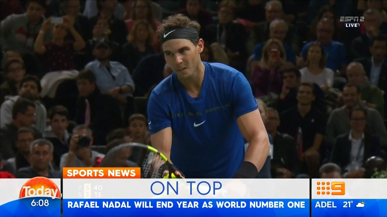 TODAY: Rafael Nadal claims year-end No.1 ranking