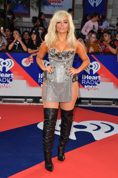 Singer Bebe Rexha at the 2018 iHeartRADIO MuchMusic Video Awards in Toronto, Canada