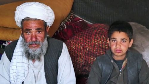 Najmuddin (left) bought Akila and promised her to his 10-year-old son, Sher Agha (right).