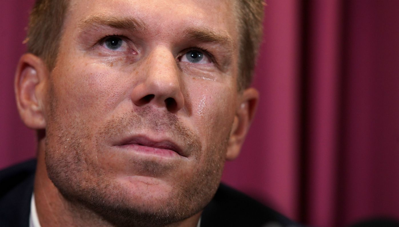 David warner speaks to media