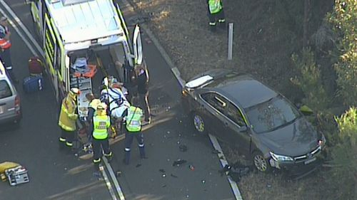 One person is confirmed dead. Image: 9News