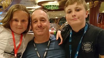 Tim with children