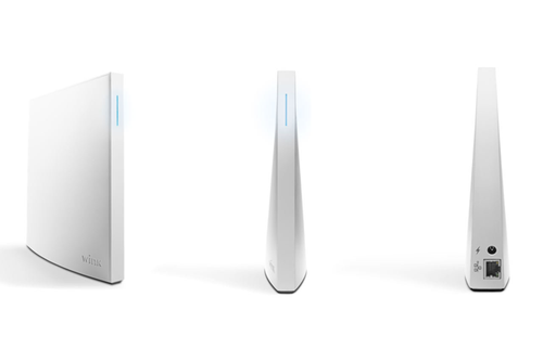 The third-party Wink Hub that was connected to the camera