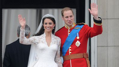Kate and Will balcony wedding
