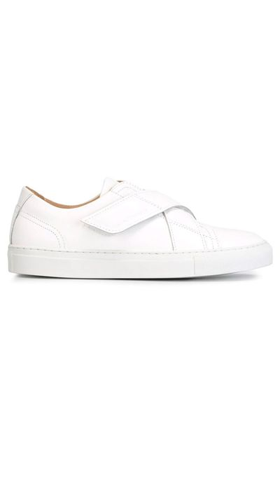 20. An elevated pair of white sneakers