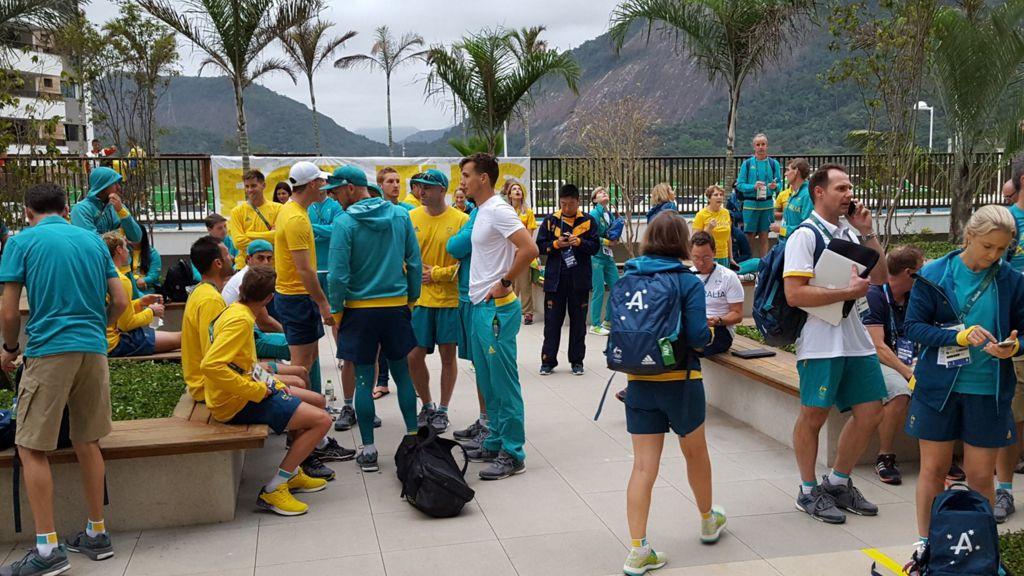 Australian athletes robbed during fire evacuation at athletes' village