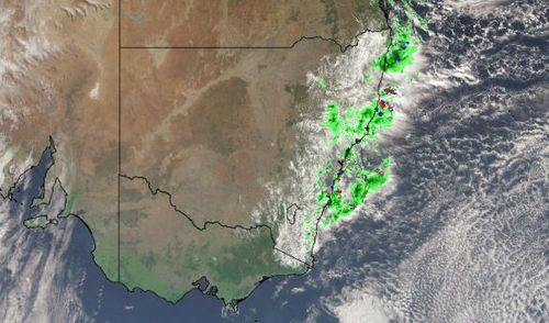 Parts of New South Wales have copped a battering as heavy falls are recorded along the coast. Picture: Weatherzone