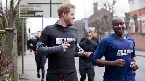Prince Harry goes jogging with homeless youth as part of charity visit