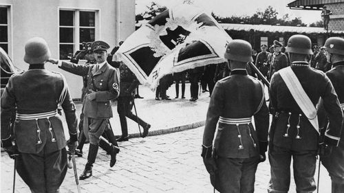 Adolf Hitler visited the German military base at Gross Born in 1938.
