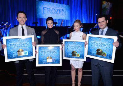 Frozen cast, Santino Fontana, Idina Menzel, Kristen Bell, Josh Gad