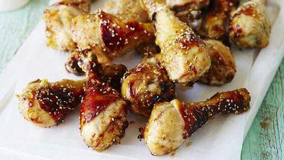 "Recipe:<a href=""http://kitchen.nine.com.au/2017/04/18/12/17/asian-style-chicken-drumsticks"" target=""_top"">Asian style chicken drumsticks</a>"