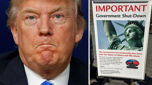 US President Donald Trump risks taking political fallout from the US government shutdown. (Photos: AP).