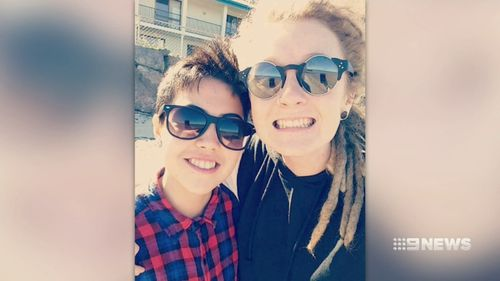 Ms Poll with her best friend, Danica Fullerton, who was struck and killed in Caboolture.