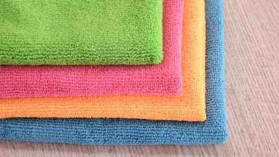 Microfibre cloths are great for cleaning different areas in the home.