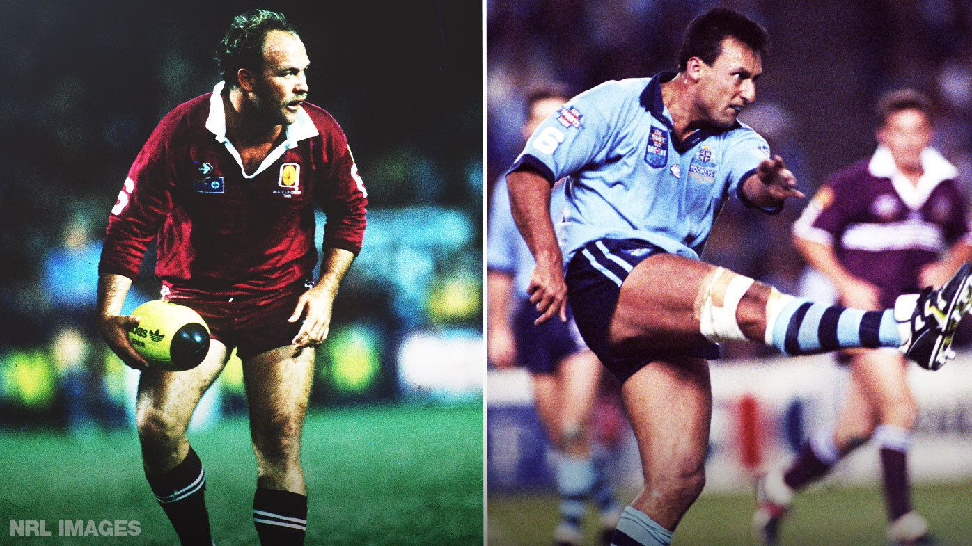 Wally Lewis and Laurie Daley