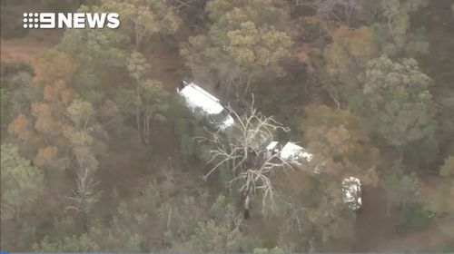 A section of bushland off the Albany Highway is currently a crime scene.