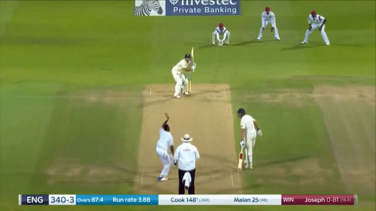 Alastair Cook reaches 150 against West Indies