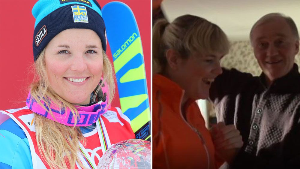 Swedish skier Anna Holmlund walks again a year after horrific training fall in Italy